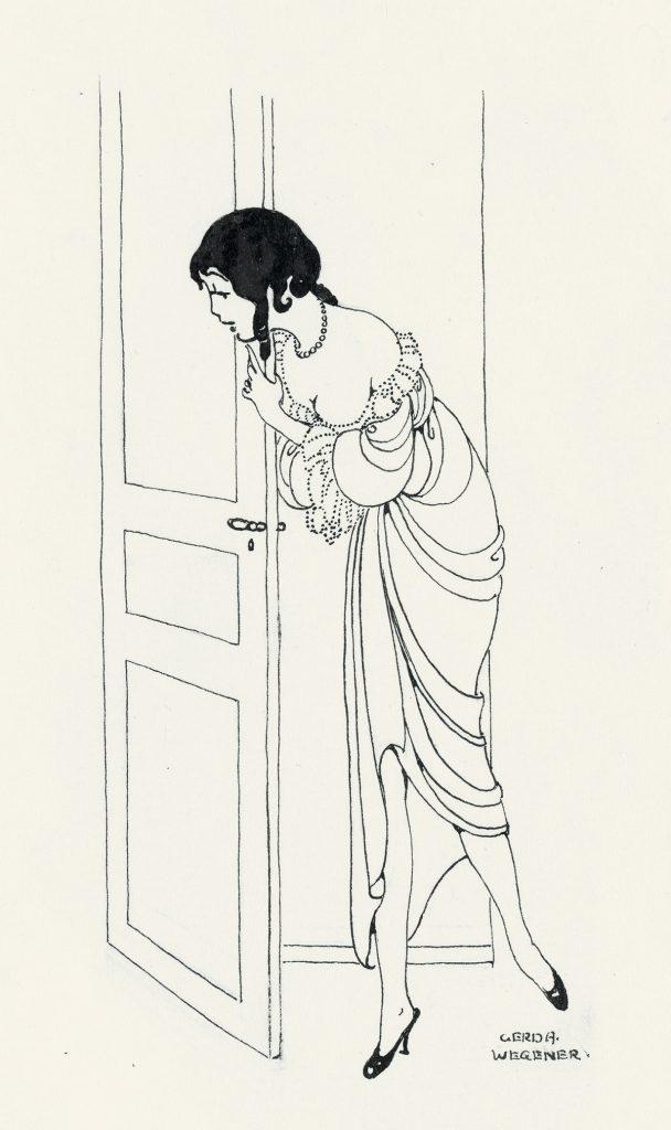 Gerda Wegener Two pen & ink illustrations, likely for Gyraldose or Malaceïne toiletries, circa 1920.