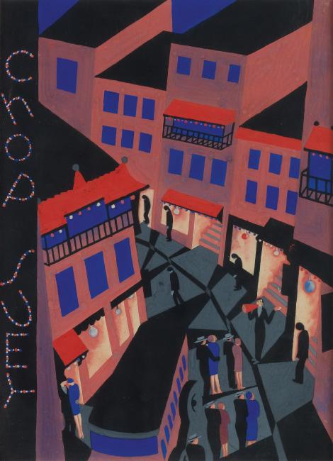 Ilonka Karasz, Chop Suey, gouache with graphite, cover for The New Yorker, 1927.