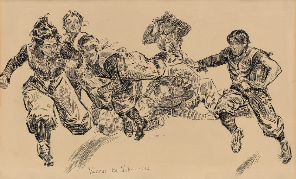 Charles Dana Gibson, The Coming Game, Yale vs. Vassar, pen and ink, published in Life magazine, 1895.