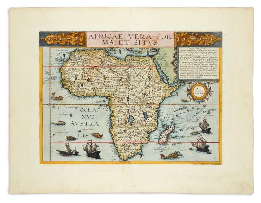Cornelis de Jode, Africae Vera Forma, et Situs, Antwerp, 1593.
