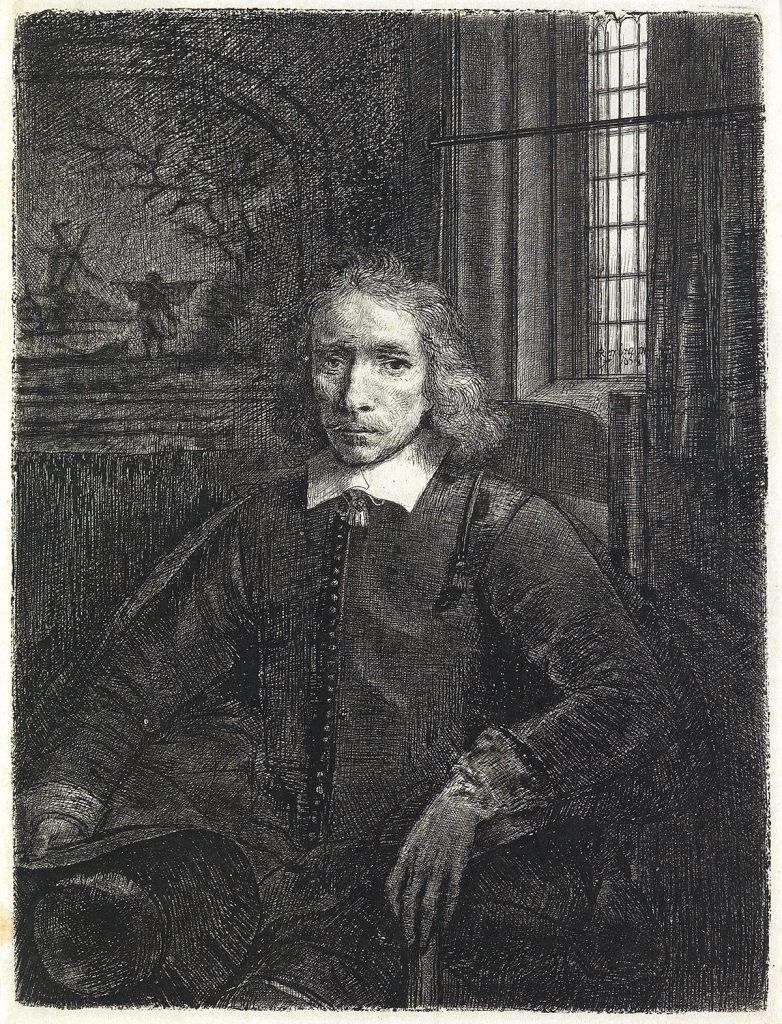 Rembrandt van Rijn, Pieter Haaring, etching, drypoint & burin, 1655.