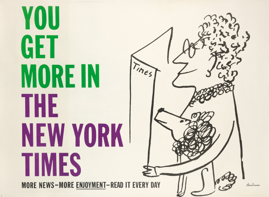 Ludwig Bemelmans, You Get More in The New York Times, 1950s. $800 to $1,200.