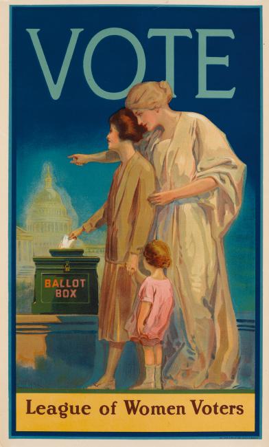 Louis Bonhajo, Vote / League of Women Voters, 1920.