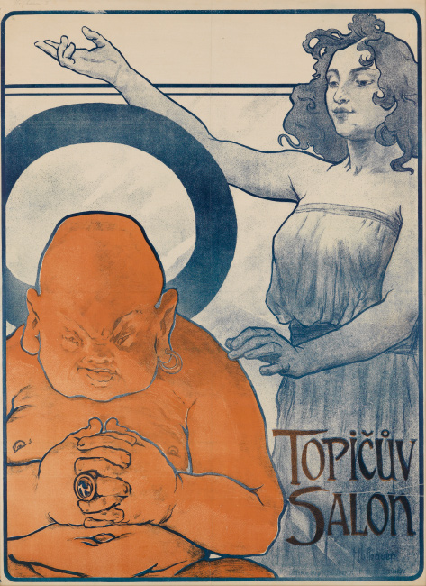 Arnost Hofbauer, Topicuv Salon, 1898. $5,000 to $7,500.