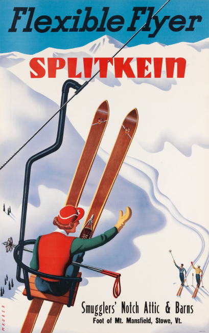 Sascha Maurer, Flexible Flyer Splitkein / Smuggler's Notch, circa 1935. $2,000 to $3,000.