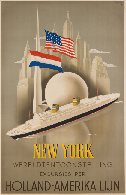Willem Frederick Ten Broek, New York / Wereldtentoonselling / Holland – Amerika Lijn, 1938. $6,000 to $9,000.