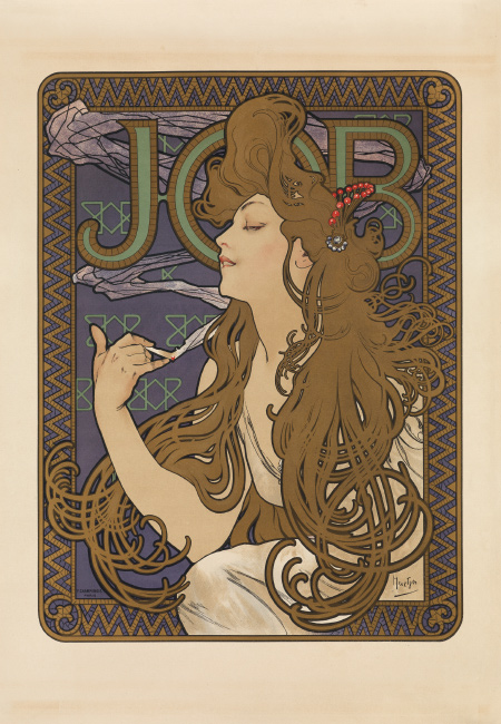 Alphonse Mucha, Job, 1896. $12,000 to $18,000.