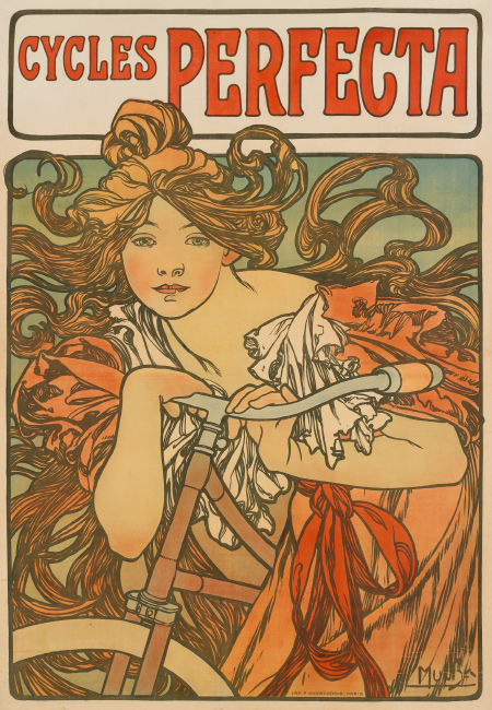 Alphonse Mucha, Cycles Perfecta, 1897. $15,000 to $20,000.