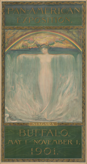 Evelyn Rumsey Carey, Pan American Exposition / Niagara / Buffalo, 1901. $7,000 to $10,000.