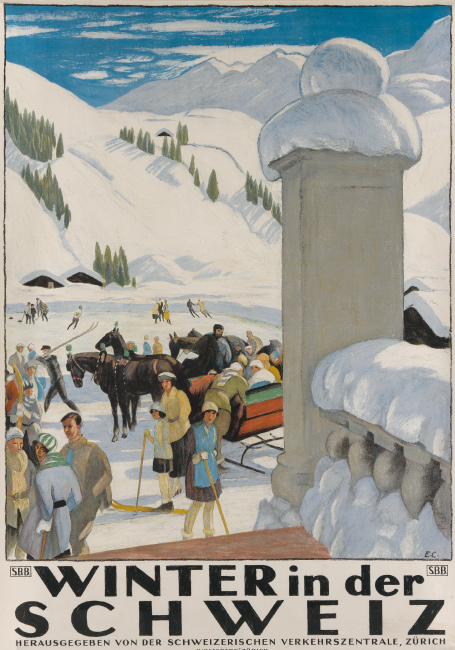 Emil Cardinaux, Winter in der Schweiz, 1921. $12,000 to $18,000.