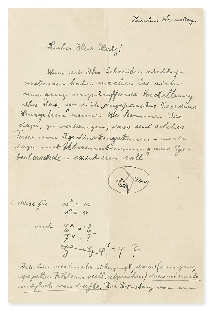 Albert Einstein, group of five Autograph Letters Signed, 1910-15.