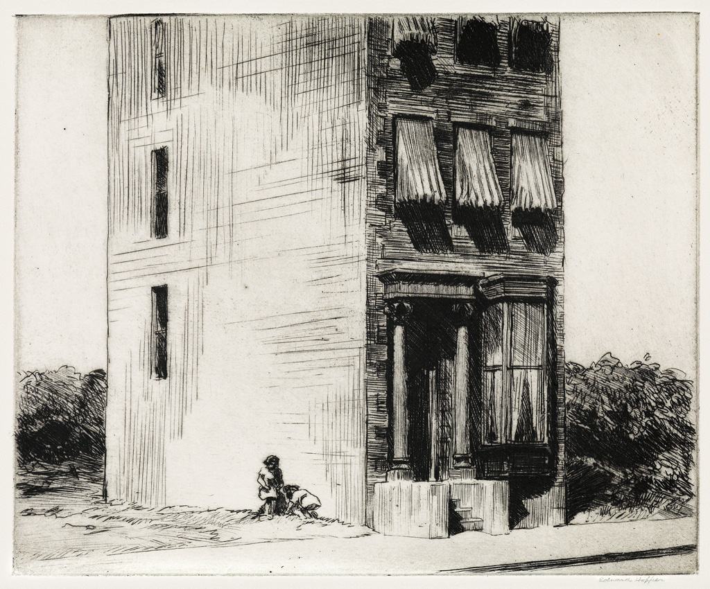 Edward Hopper, The Lonely House, etching, 1923.