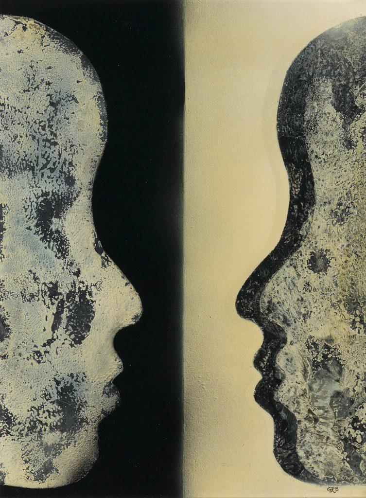 Gloria R. Bohanon, Who Reflects Who, oil & enamel paint on board, circa 1970.