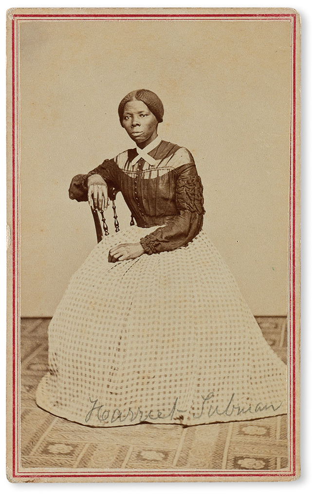 Civil War period carte-de-visite album, including two photographs of Harriet Tubman, one of them unrecorded, circa 1860s.