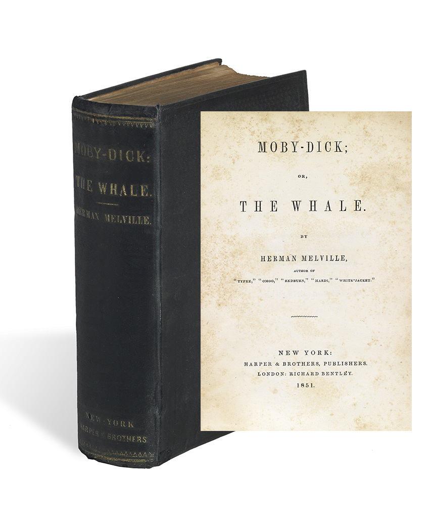 Herman Melville, Moby-Dick; or The Whale, first American edition, first state binding, New York, 1851.