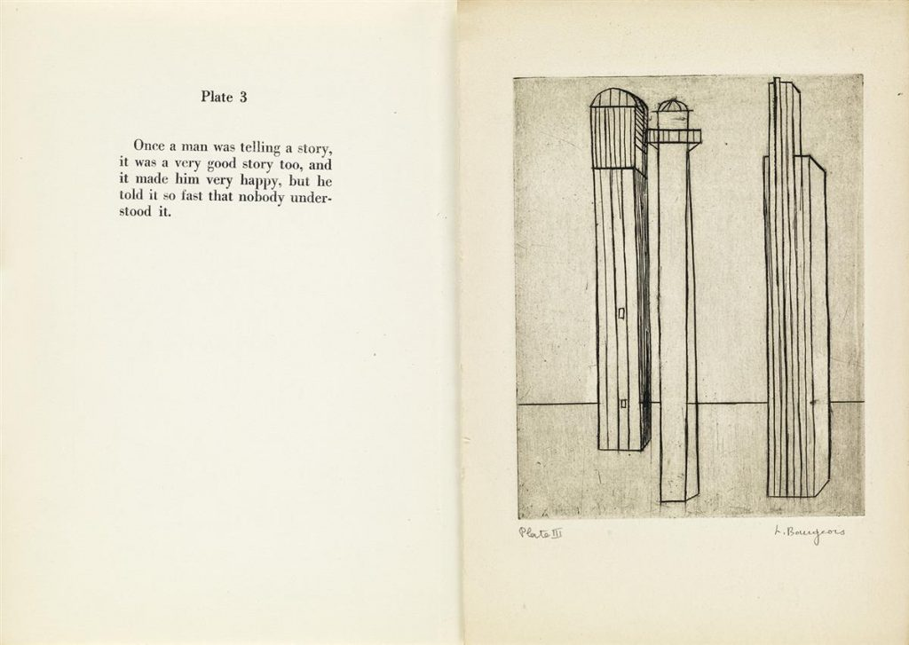 Louise Bourgeois, He Disappeared Into Complete Silence, portfolio with complete text and nine engravings, 1947.