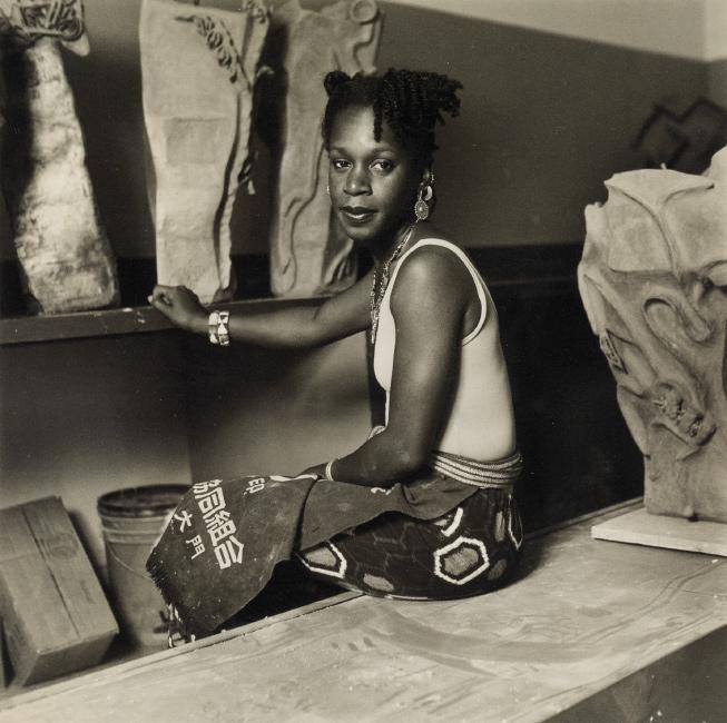 Dawoud Bey, The artist Sana Musasama, silver print, 1986-87.
