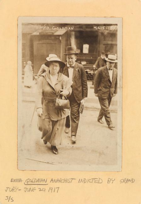 Anarchist Feminist Emma Goldman indicted by Grand Jury, silver print, 1917.