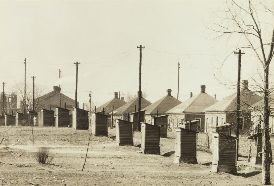Walker Evans, Company Houses for Steel Mill Workers, Birmingham, Alabama, silver print, 1936.