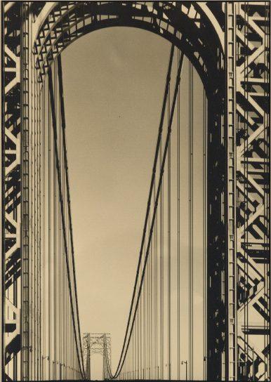 Margaret Bourke-White, The George Washington Bridge, warm-toned silver print