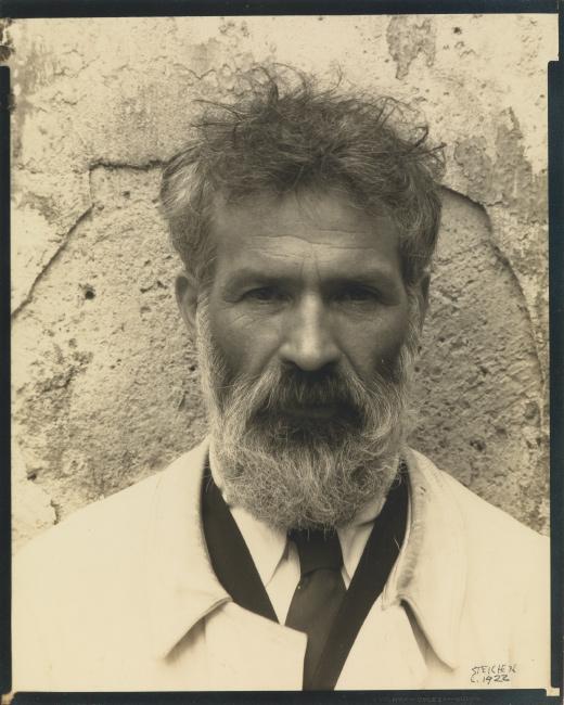 Edward Steichen, Constantin Brâncuși, Voulangis, France, silver contact print, 1922.