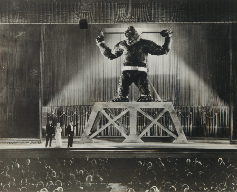 Group of approximately 110 film stills from King Kong, ferrotyped silver prints, 1933.