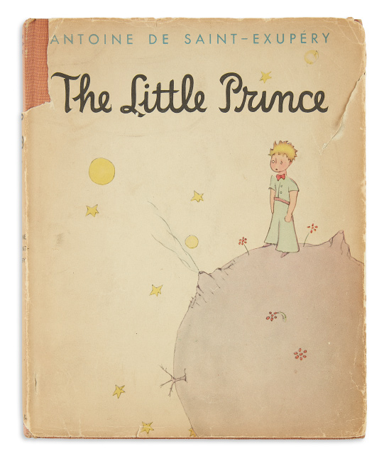 Antoine de Saint-Exupery, The Little Prince, limited edition, with first state dust jacket, signed, 1943. $6,000 to $9,000.
