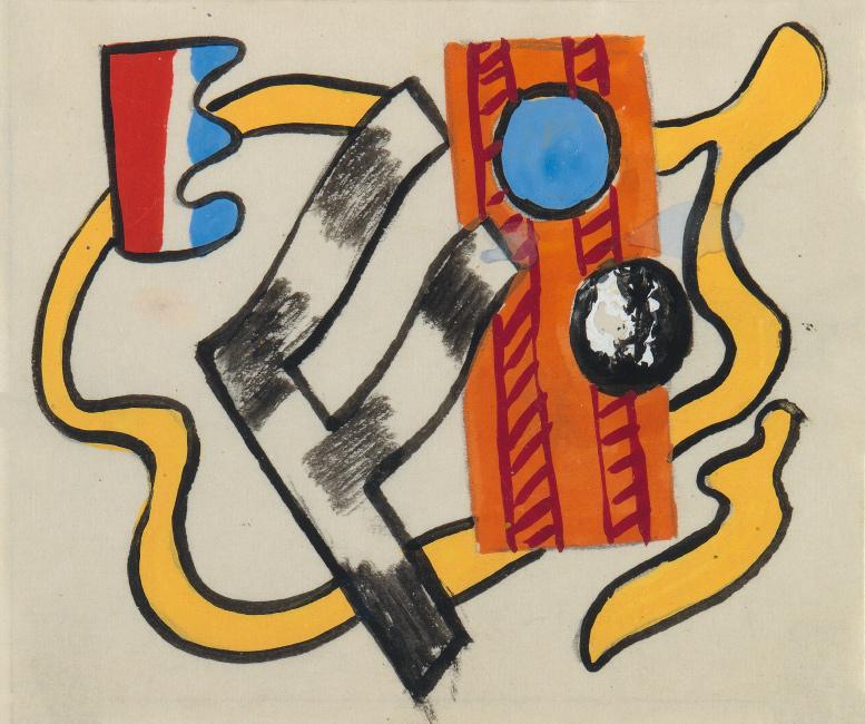 Fernand Léger, Series VII, gouache.