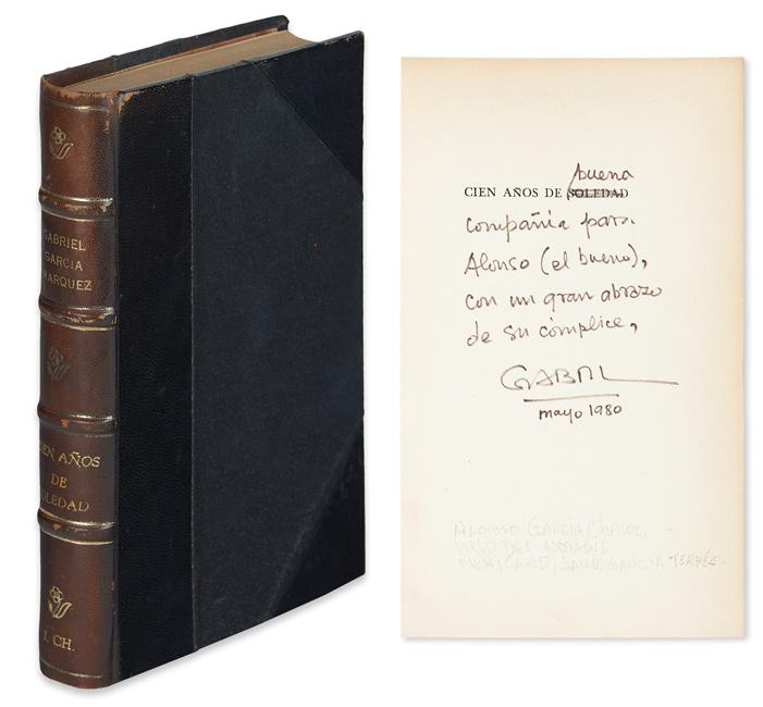Gabriel García Márquez, Cien Años de Soledad, first edition, signed & inscribed, Buenos Aires, 1967.