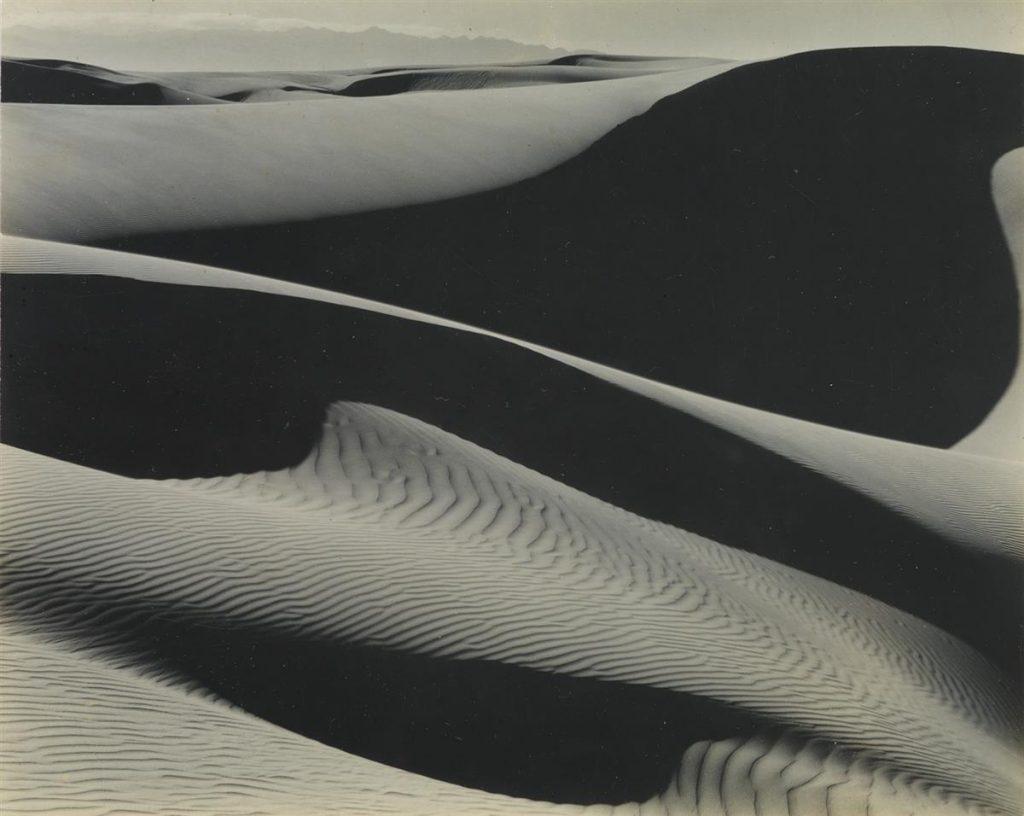 Edward & Brett Weston, Dunes, Oceano, silver print, 1936, printed circa 1953.