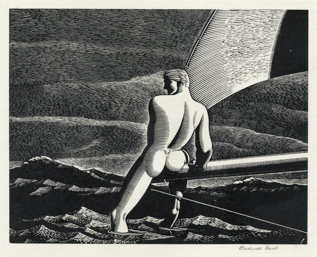 Rockwell Kent, Fair Wind, wood engraving, 1931.