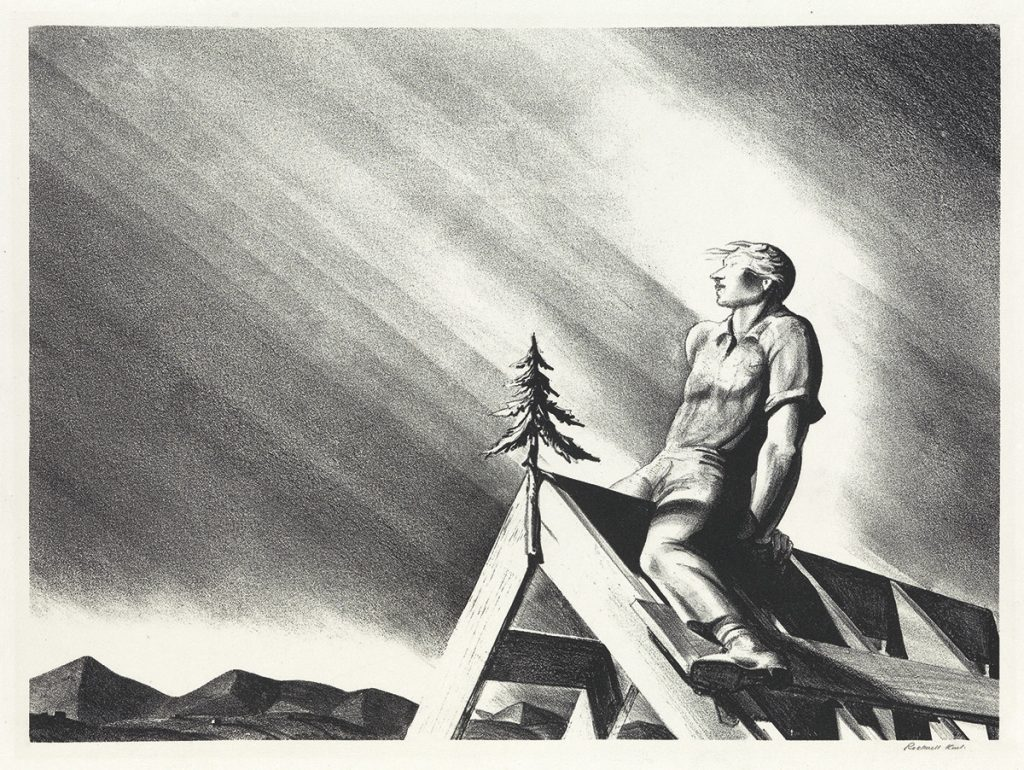 Rockwell Kent, Roof Tree, lithographs, 1928.