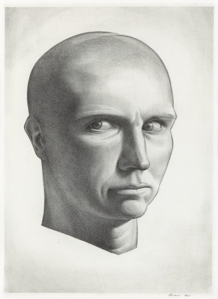 Rockwell Kent, Self-Portrait, lithograph, 1934.
