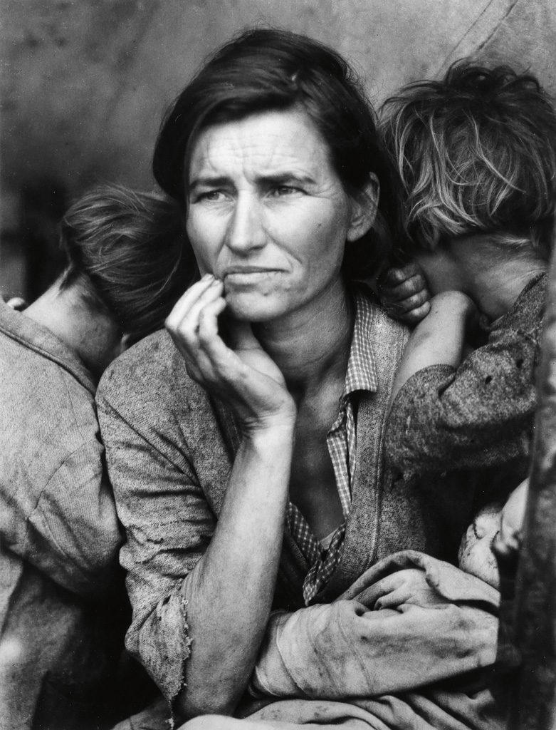 Dorothea Lange, Migrant Mother, silver print, 1936, printed 1970s.