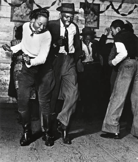 Marion Post Wolcott, Jitterbugging in Juke Joint, Clarksdale, Mississippi, silver print, 1939, printed 1970s.