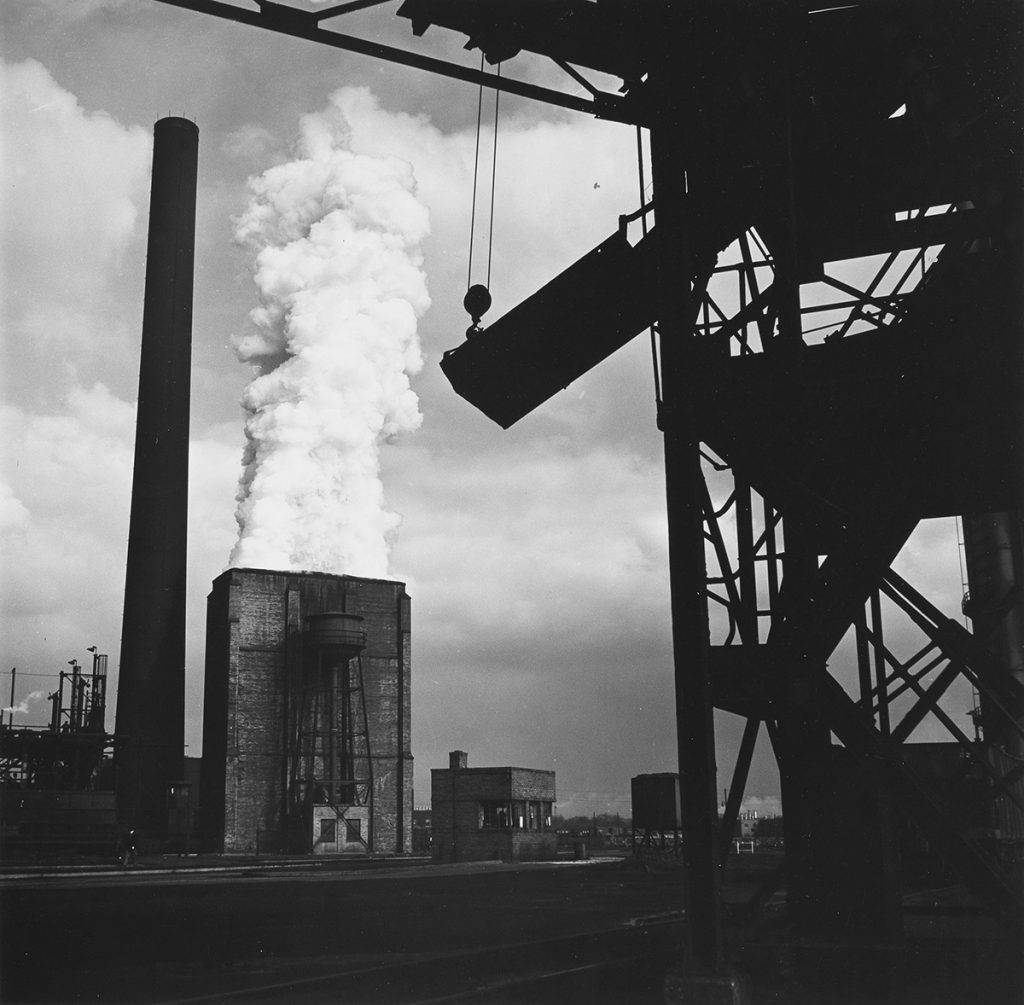 Walker Evans, River Rouge Plant (Ford Motor Company), Number 1 Coke Quencher, silver print, 1947.