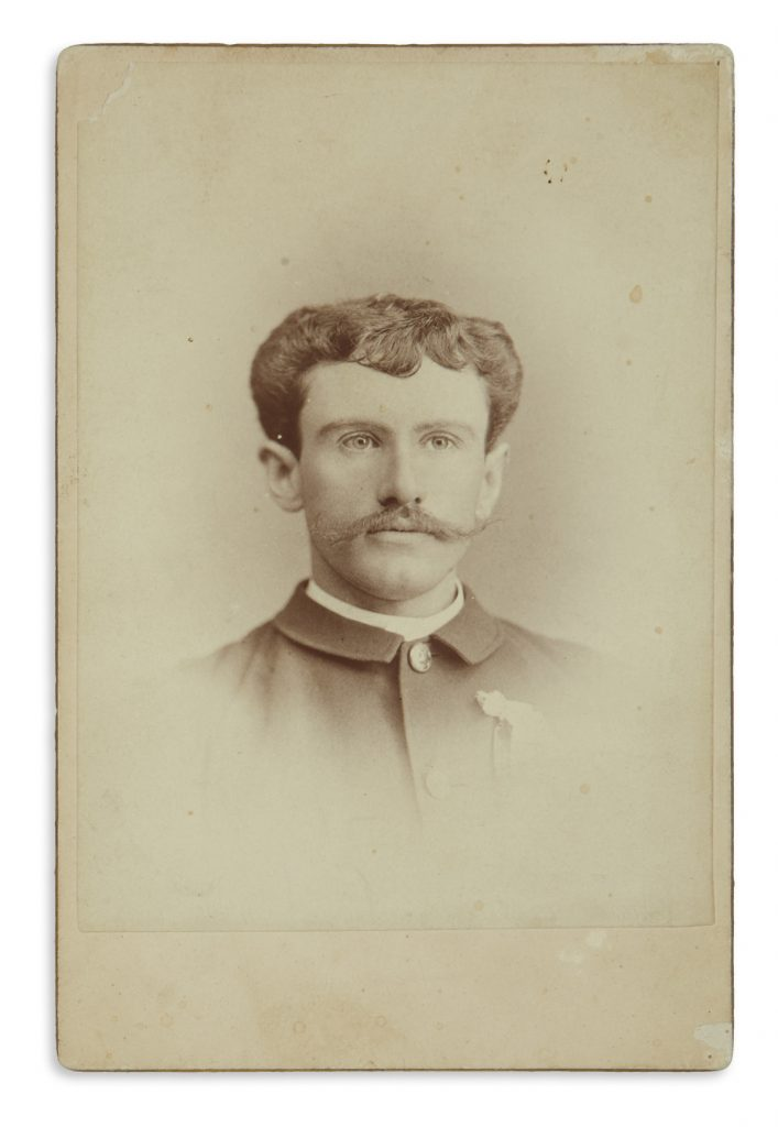 Cabinet portrait card of William Sydney Porter, aka O. Henry, circa 1881-87.