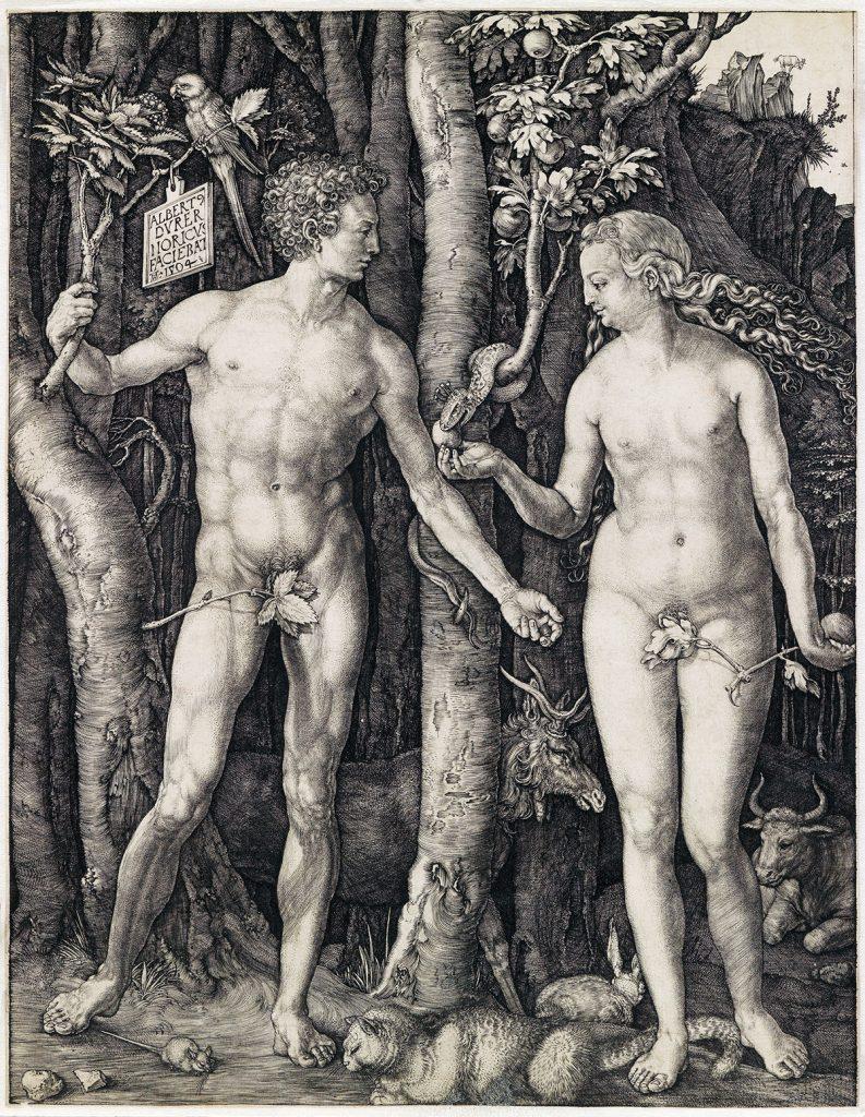 Albrecht Dürer, Adam and Eve, engraving, 1504.