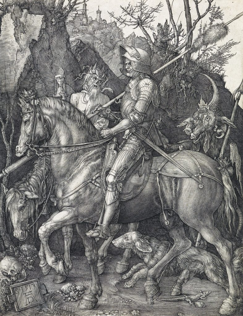 Albrecht Dürer, Knight, Death and the Devil, master engraving, 1513.
