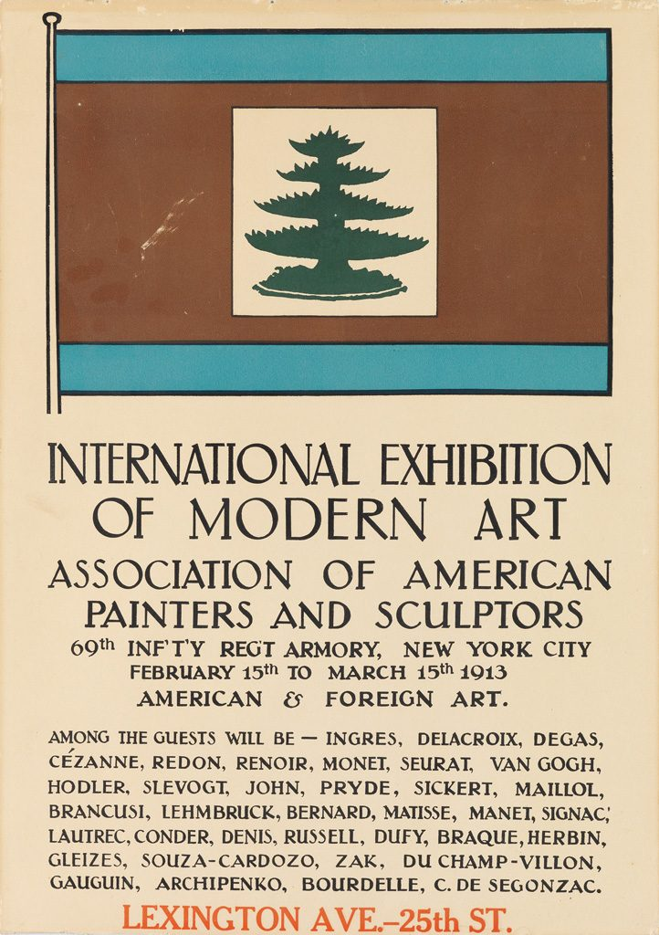 Designer Unknown,  International Exhibition of Modern Art, exhibition poster, 1913.
