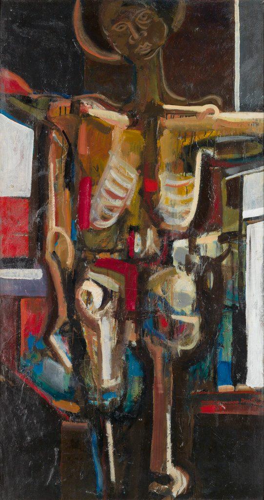 David C. Driskell, Black Crucifixion, oil on canvas, 1964.