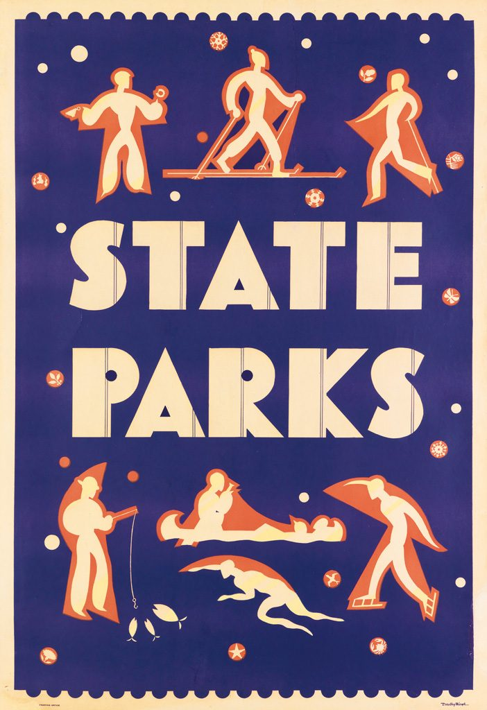 Dorothy Waugh, State Parks, circa 1934. State Park Poster