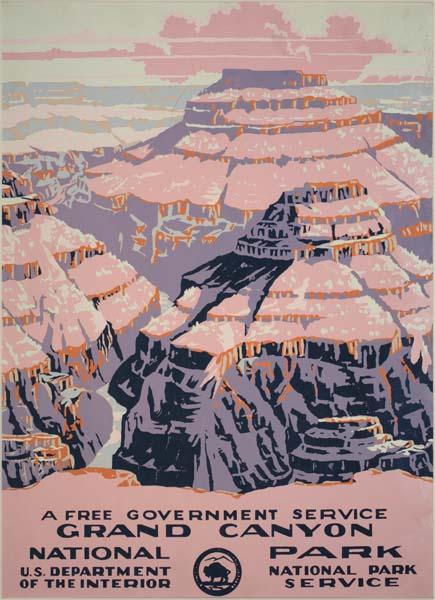 Unknown designer, Grand Canyon, circa 1938. WPA National Park Poster