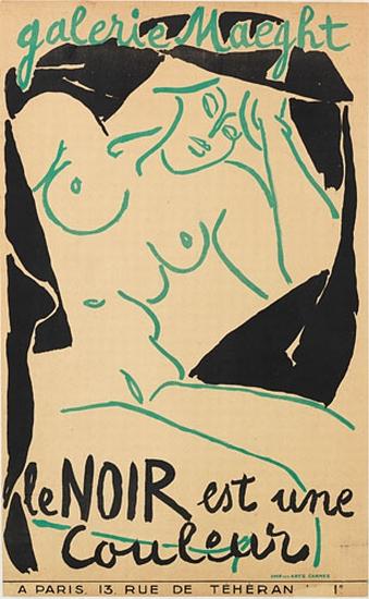 Henri Matisse, Galerie Maeght / Le Noir est un Couleur, exhibition poster, 1946.