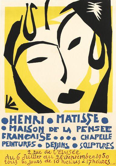 Henri Matisse, Maison de la Pensee, exhibition poster, 1950