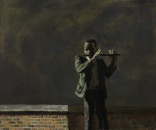 Hughie Lee-Smith, Slum Song, oil on canvas, 1944.