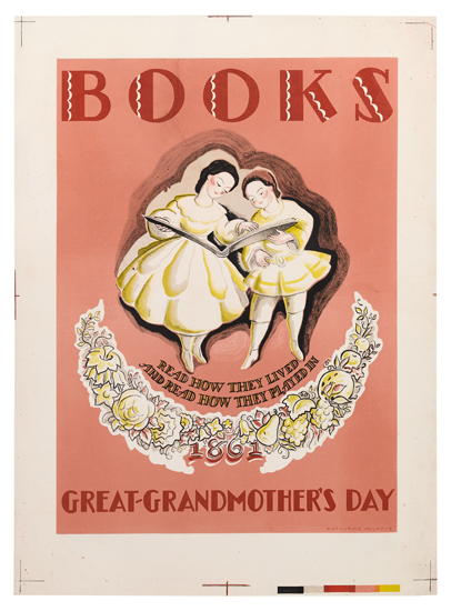 Katherine Milhous, Books / Great-Grandmother's Day. WPA Poster