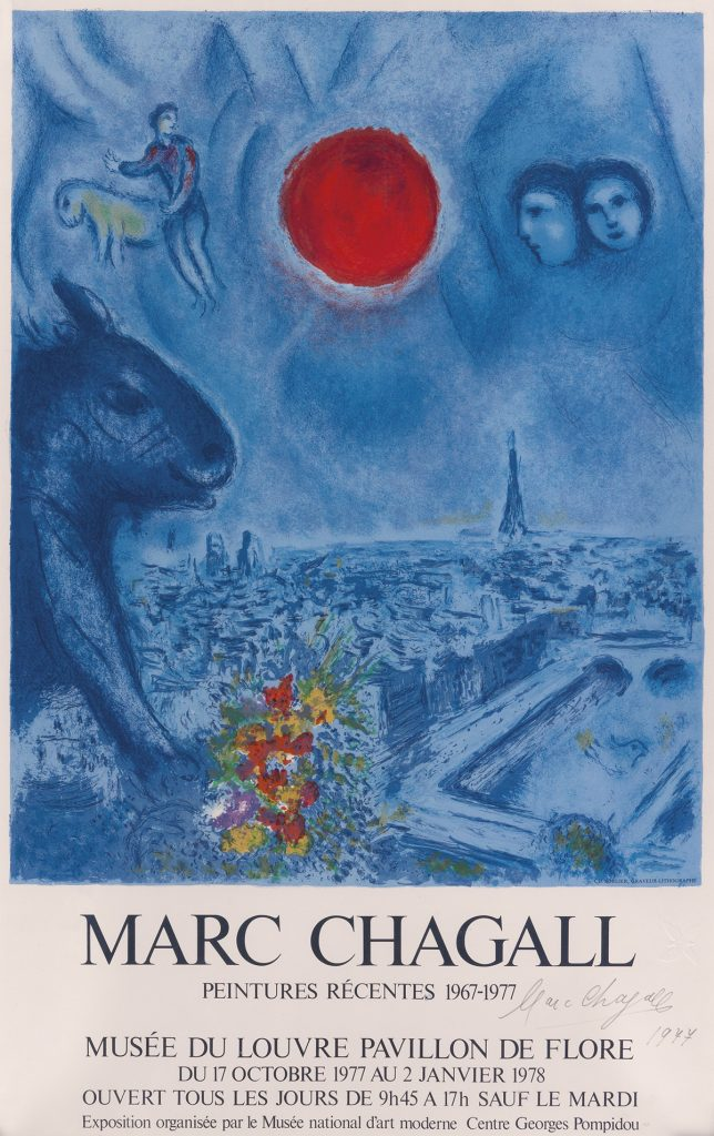 Marc Chagall, Marc Chagall / Peinures Récentes, exhibition poster, 1978.