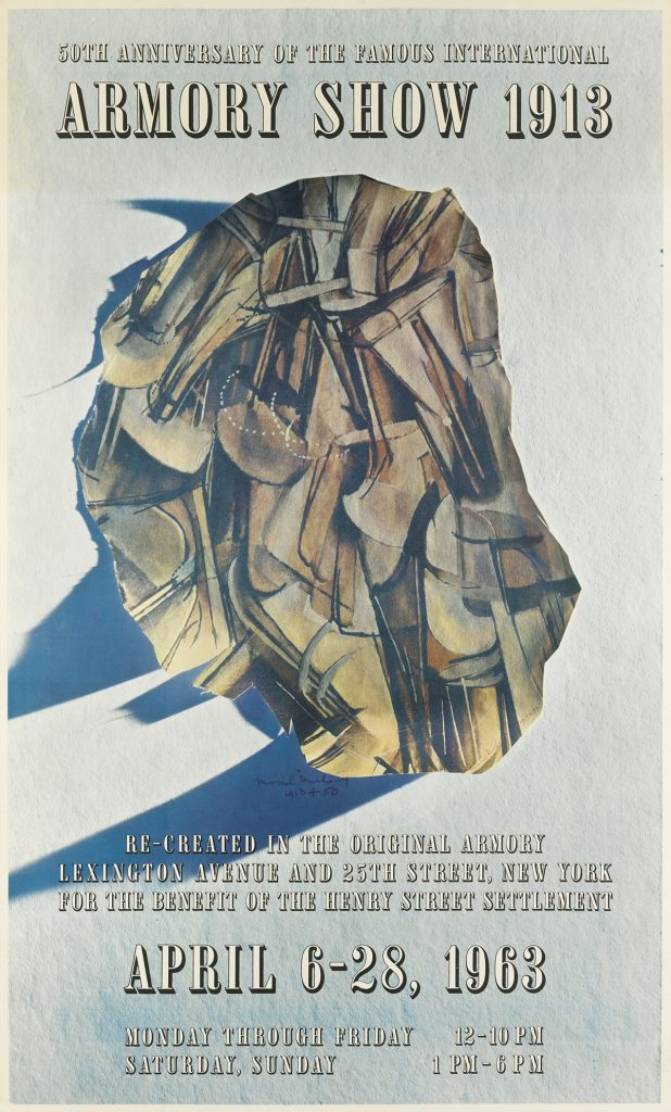 Marcel Duchamp, 50th Anniversary of the Famous International Armory Show 1913, exhibition poster, 1963.
