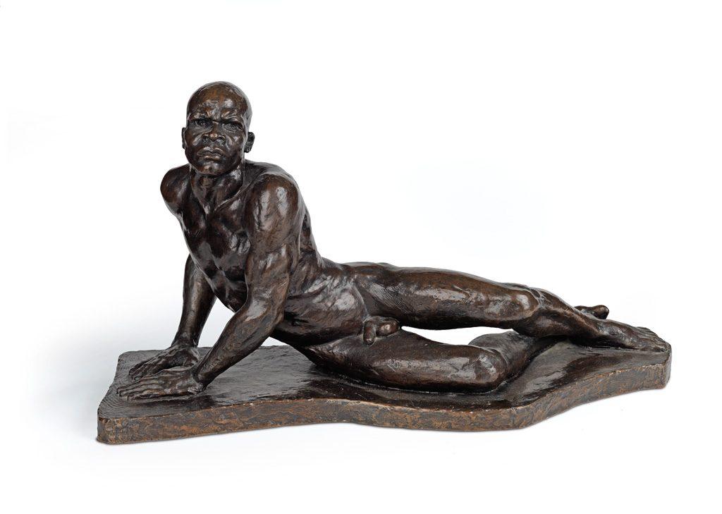 Richmond Barthé, The Awakening of Africa (Africa Awakening), cast bronze with dark brown patina, 1959.